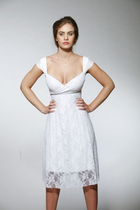 שמלת כלה קצרה מתחרה