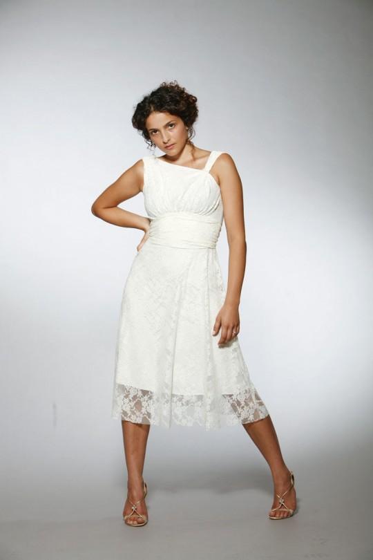 שמלת כלה בשמנת