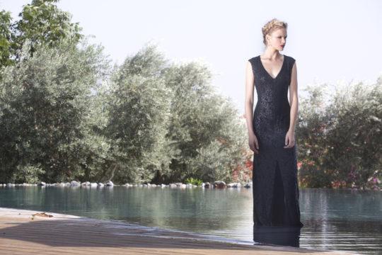 שמלת פרינסס מקסי פאייטים