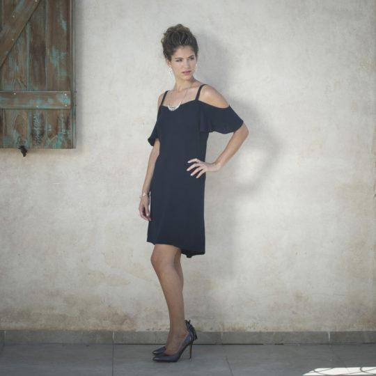 שמלת שרוול נופל מיני