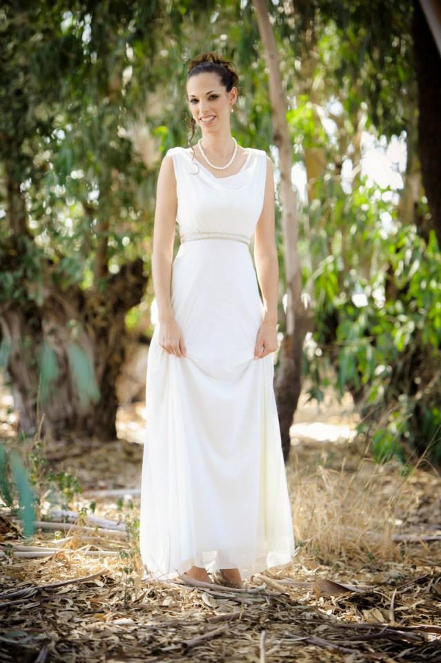 שמלת כלה משיפון וסאטן